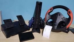 PS4 500GB FAT +PSPlus +ContaDigital +15Games +Volante +RepetidorWiFi +HD1TB +2controle
