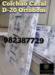 Título do anúncio: Colchão Casal D20 ortobom ** entrega gratis