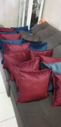 Almofadas de veludo