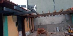 Calha e rufo serralheria  reforma de telhado W&L