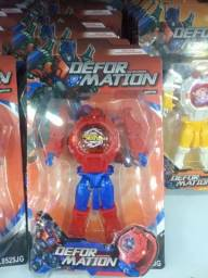Título do anúncio: Boneco Relógio Super Herói Analógico Infantil