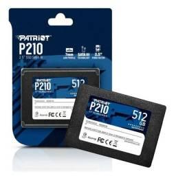SSD 512GB PATRIOT, SATA, MARCA AMERICANA, novo, original, lacrado de Fábrica