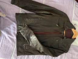 Título do anúncio: Jaqueta masculina de couro