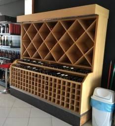 Adega de madeira para 300+ garrafas