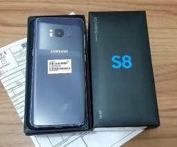 Samsung S8 normal 64gb azul ametista completo de fabrica com nota fiscal