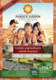 Lança.mento lotes em Paracuru, CE beira pista de acesso centro, 5min praia, 116,49 mensal
