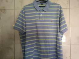 ef1dbe160c Camisa Polo Ralph Lauren Listrada Tamanho especial EG 64cm Largura