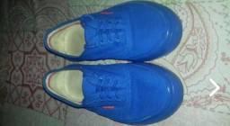 Tênis redley azul monocromático tamanho 38