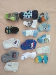 Lote de meias de bebê