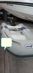 Vendo  bote zefir e motor Mercury  15 hp