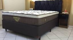 :: promoçao Cama Box + Colchao Ortobom Casal Classic Gold Super Pocket 138x188 Confira