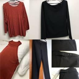 Blusas e Calça preços diferentes