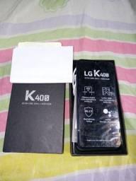 Vendo celular da lg k40s semi novo com todo acessorios e nota fiscal .