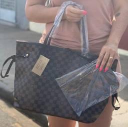 Kit Bolsa sacolão+Carteira Louis Vuitton