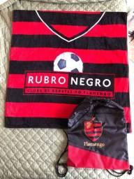 Kit Flamengo NOVO (toalha + mochila sacola)
