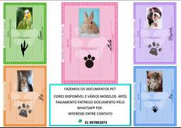 Documentos pet animal