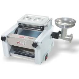 Cilindro Laminador De Massas 250mm Com Extrusor e Moedor Boca 5 Conjugado Compacto 2,5kg