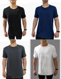 Camisetas Lisas Malha 30.1 Atacado e Varejo a Pronta Entrega 4 Cores Direto de Fábrica