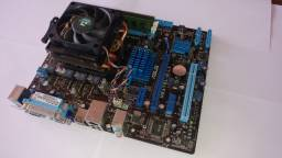 Placa mãe + Processador + Cooler + Memória