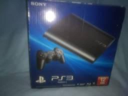 PlayStation 3 na caixa semi novo com jogos já instalados