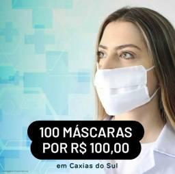 Pacote com 100 máscaras de TNT Duplo