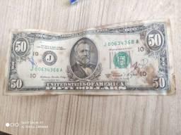Notas Antigas (Com 71 dólares cara pequena válidos para troca apenas nos EUA)
