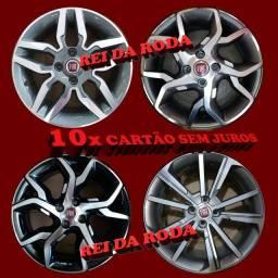 Jogo de Rodas ARO15-Modelos Variados FIAT-Zunk e Excell