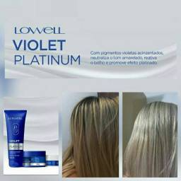 Shampoo + mascara hidratante violet platinum lowell