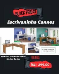 Escrivaninha Cannes p/ seu escritório barato Black Friday promoção