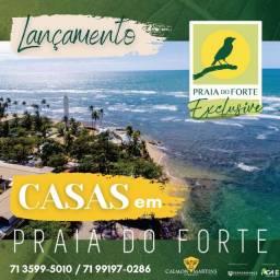 Casas na Praia Do Forte, 3/4 com 2 suítes - Exclusivo
