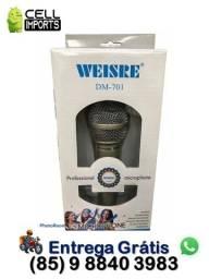 Título do anúncio: Microfone Com Cabo 2.5m Dm-401 Entrega Grátis