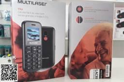 Celular Vita, dual chip, com botão de emergência, o celular do idoso (Letras Grandes)