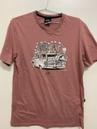 Camiseta Lost original cor rosa tamanho P usada