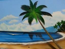 Graffiti bronzeamento praias e Coqueiros