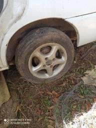 Rodas 14 pneus meia vida