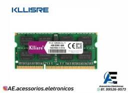 Título do anúncio: Memoria Ram DDR3L 4gb e 8gb 1600 MHz Kllisre - Notebook - Entregamos e Aceitamos Cartões