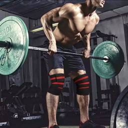 Título do anúncio: Faixas compressão para joelhos powerlifting musculacao agachamento crossfit lpo