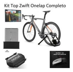 Kit Zwift Onelap antena ANT+ Sensor de velocidade e cinta cardíaca.