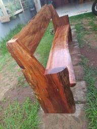 Título do anúncio: Banco namoradeira rústico em madeira canafístula