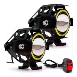 Auxiliar de Moto Olho de Anjo Farol U7 Motocicletas