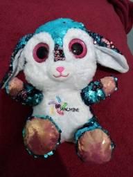 Título do anúncio: Coelha azul de lantejoulas