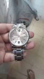 Título do anúncio: Relógio Prata Espelhado Novo