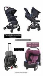 Vendo carrinho de bebê e bebê conforto ambos da marca burigotto