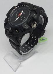 Título do anúncio: Relógio Militar Tático Smael G Shock Preto a prova da água C/ Caixa