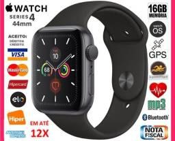 Apple Watch Série 4 Sport 44mm GPS, A prova D'água, Novíss, NF, Caixa, Gar, Troco