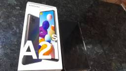 Título do anúncio: Vendo A21s celular top, Tudo original na caixa, Entrego