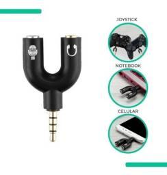 Adaptador Para Fone Headset Microfone Lapela P2 X P3 Áudio