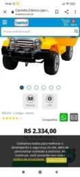 Vende-se Carro Jeep Elétrico com controle remoto bateria de 12v Bilfex *