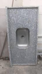 Pia de cozinha granito cinza corumbá