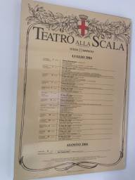 Cartaz ORIGINAL Teatro Alla Scalla (Milão)